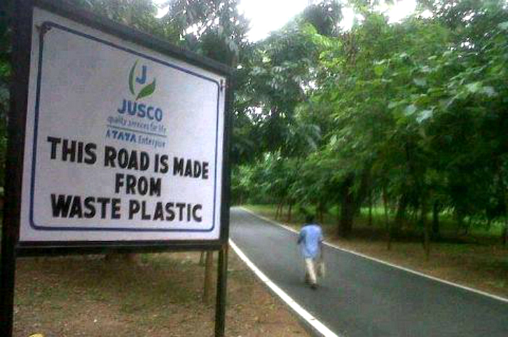 Road made of Plastic 1