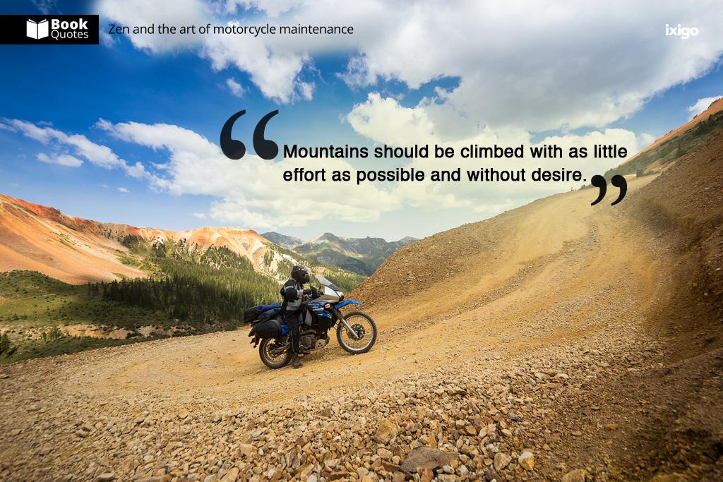 Book Quotes Zen And The Art Of Motorcycle Maintenance Ixigo