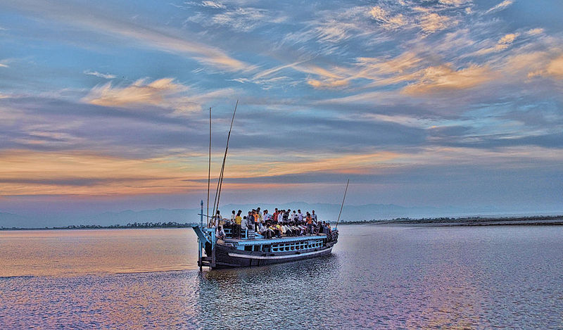 Boat Ride from Jorhat to Majuli (by Suraj Kumar Das)