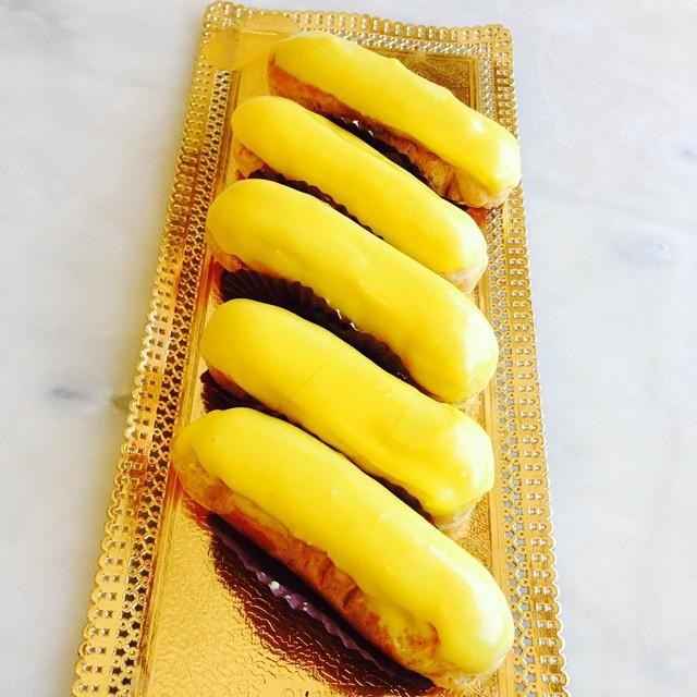 mango eclairs