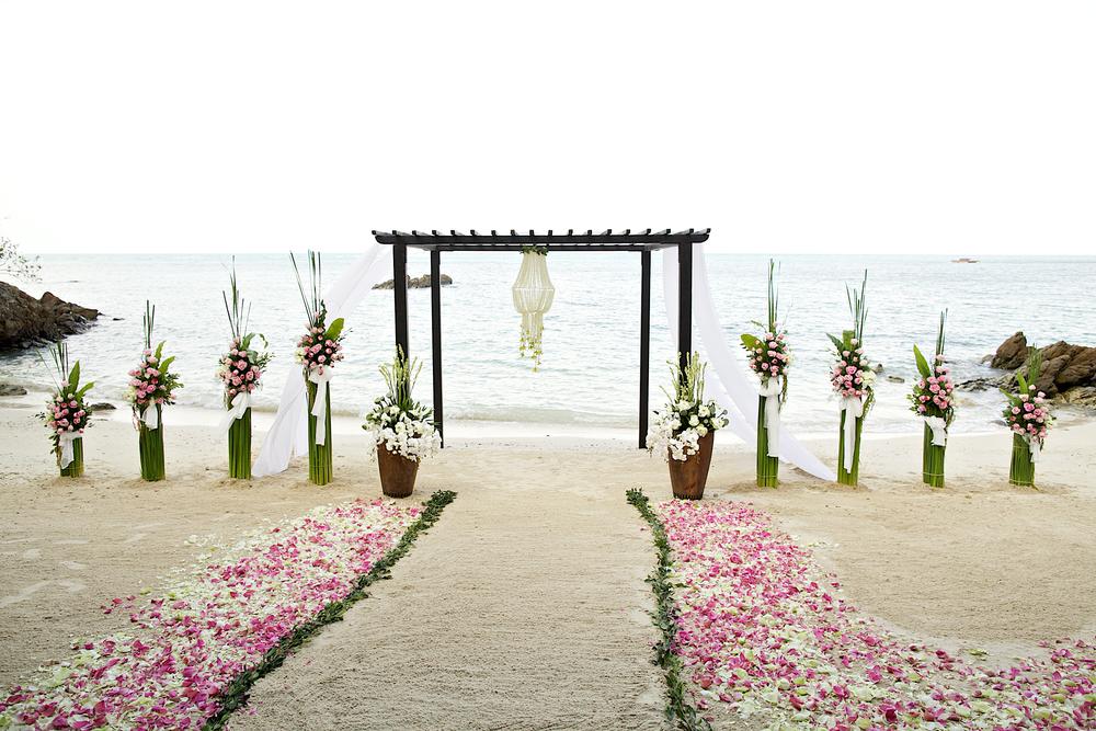 Beach wedding at Jamaica