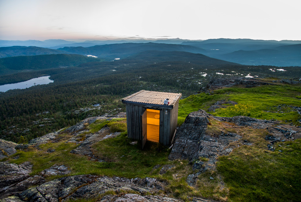 Lavatory with a special view. Norway/ Kongsberg