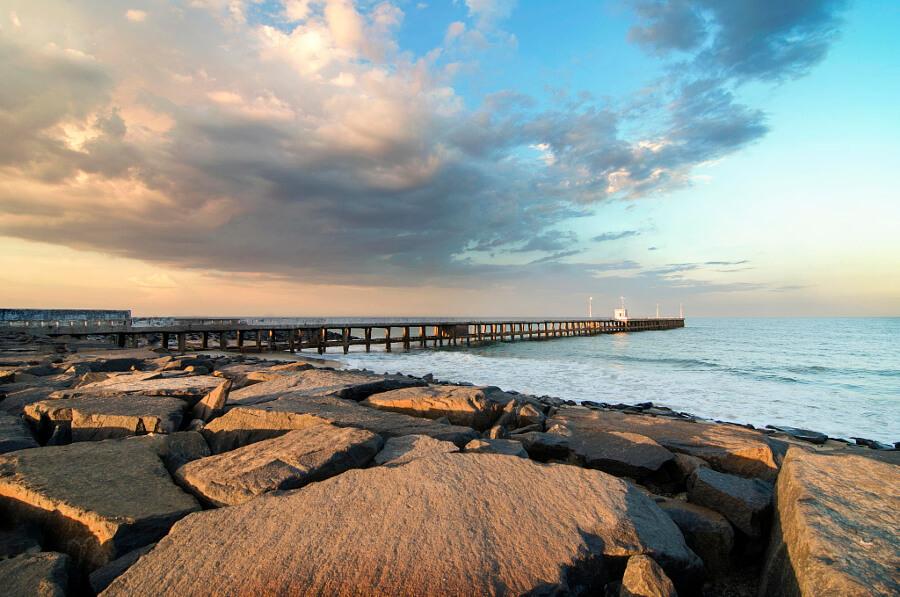 Promenade-beach-Pondicherry