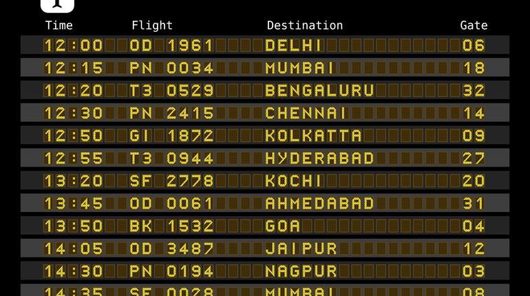Airport departures - India