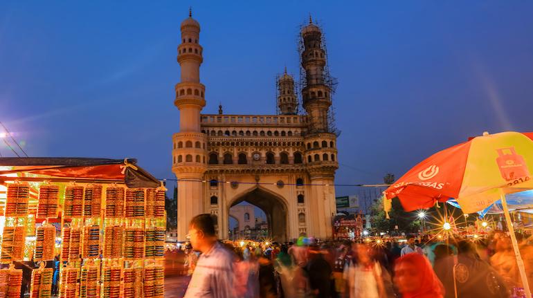 Evening at Charminar in Hyderabad on December 26,2018