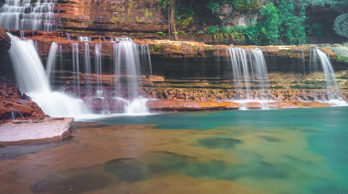 Amazing and Beautiful waterfall in Meghalaya North East India