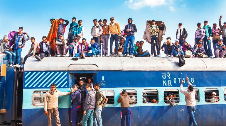 Indian railways ban passengers