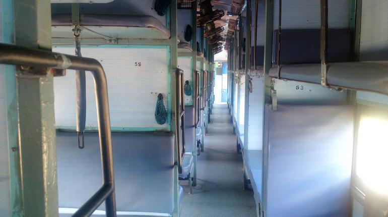 walk through the empty Indian train sleeper class