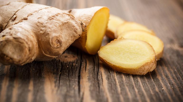 Close up of fresh ginger