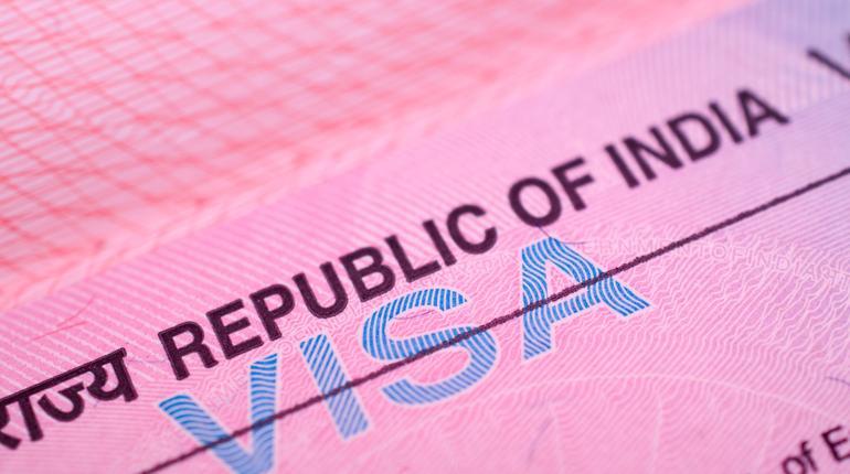 Indian visa in the passport