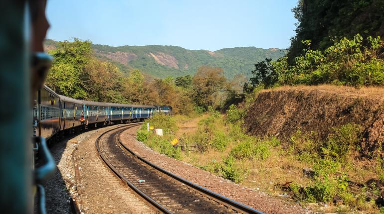 View from the train window, Indian Railways