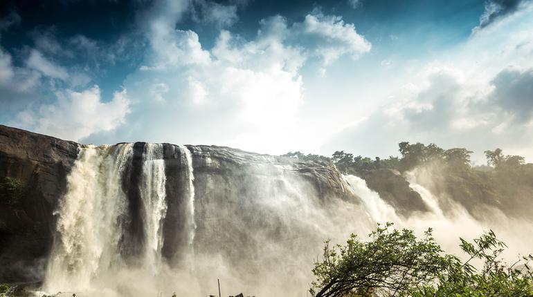 Athirappalli waterfall also called Kerala Niagara