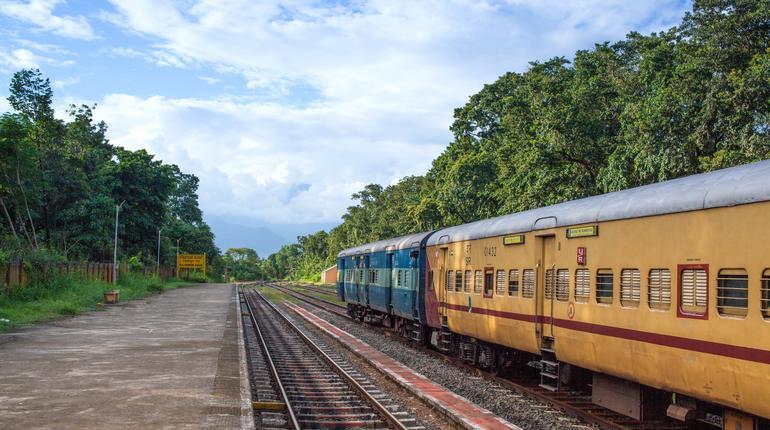 Indian railway in nilambur road, 27-10-2019 kerala india