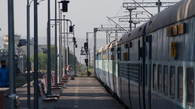 passenger train in the station