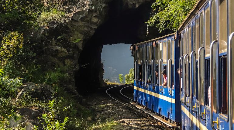 Nilgiri mountain railway, runs between Mettupalayam and Udagamandalam in south India.