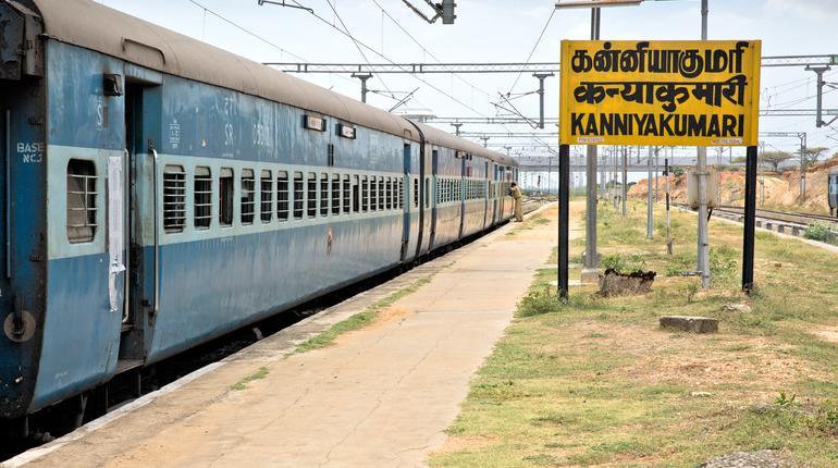 Kanniyakumari railway station is a railway terminus of the Indian Railways serving the coastal city of Kanyakumari in the state of Tamil Nadu, India.