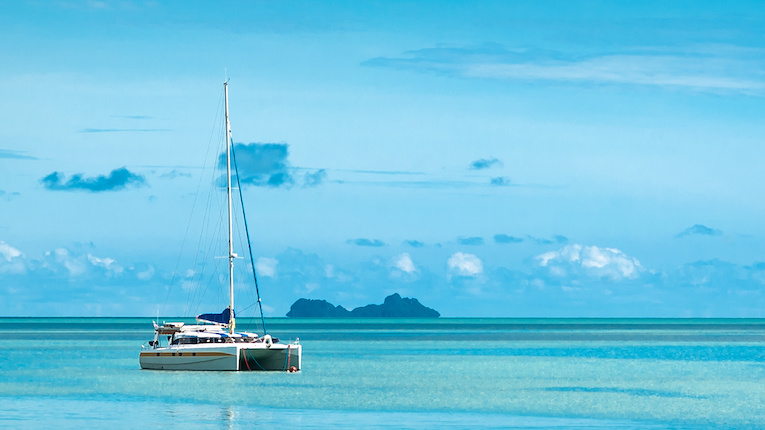 Sailing boat in the sea near Phuket, Thailand