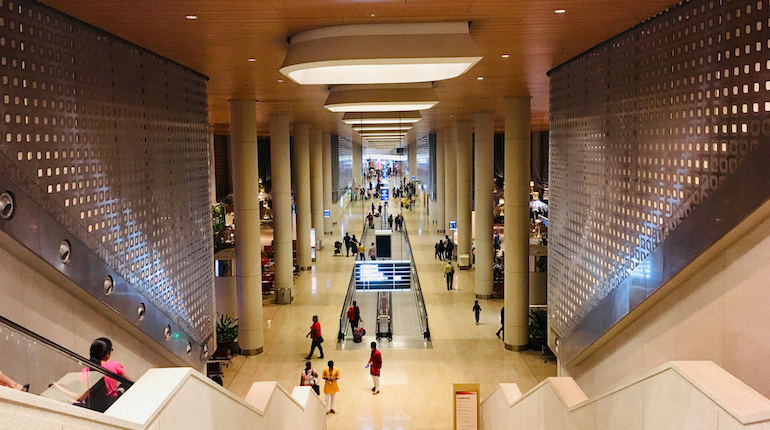 Departure hall of Mumbai Airport's terminal 2