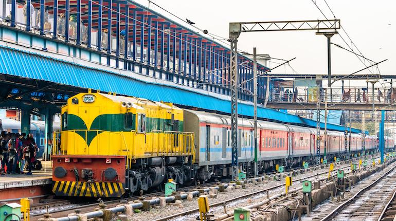 Passenger Train at New Delhi Railway Station