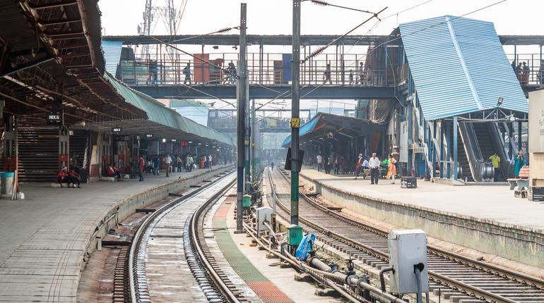New Delhi railway station, one of the most active stations