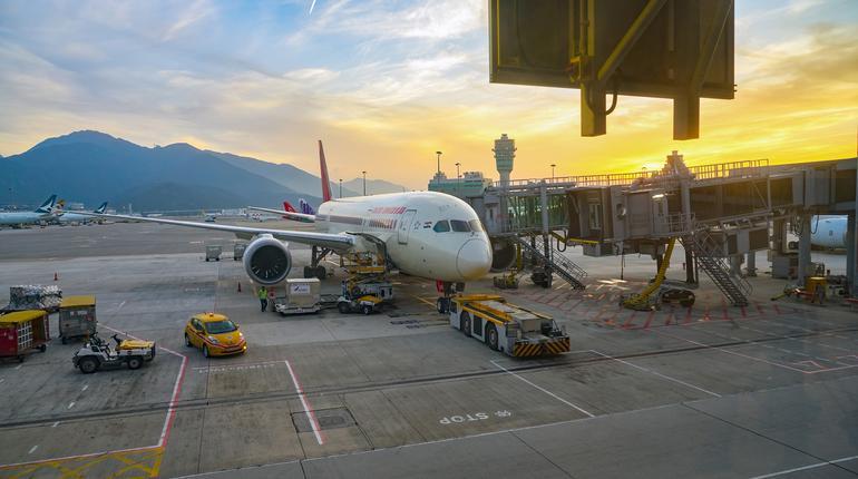 HONG KONG, CHINA - CIRCA JANUARY, 2019: an Air India Boeing 787 Dreamliner on tarmac at Hong Kong International Airport.