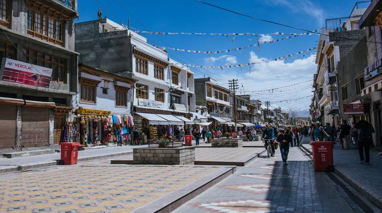 Main market at the downtown of Leh City