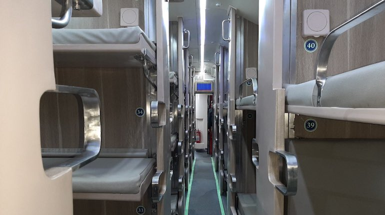 ac 3 tier economy coach - interior