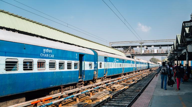 view of a train at bangalore city jn