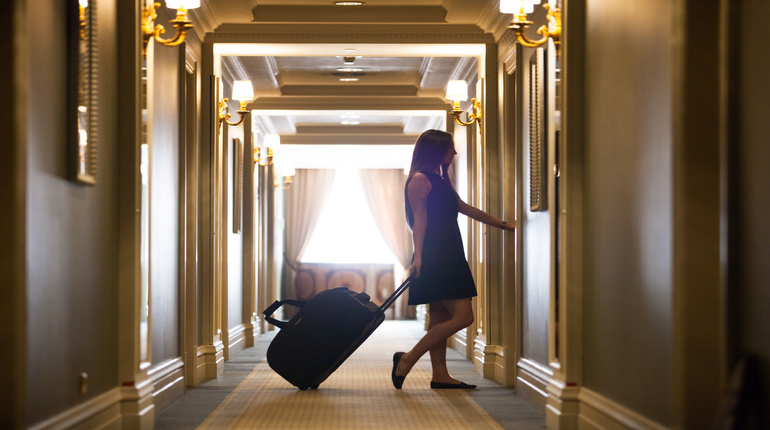 luxury five-star hotel welcomes guests on a weekend