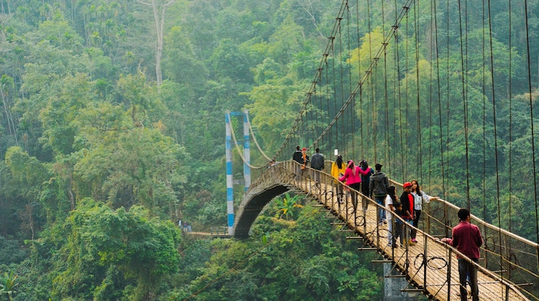 bridge in shnongpdeng meghalaya