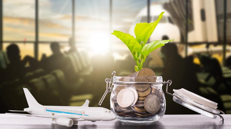 Saving travel money for your vacation budget.